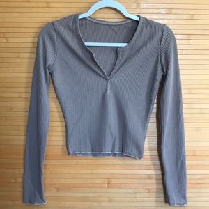 NWT Women's Ribbed Knit Long Sleeve Top